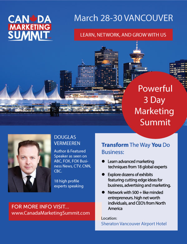 "2014 Canada Marketing Summit - Enter discount code ""Empress Avenue"""
