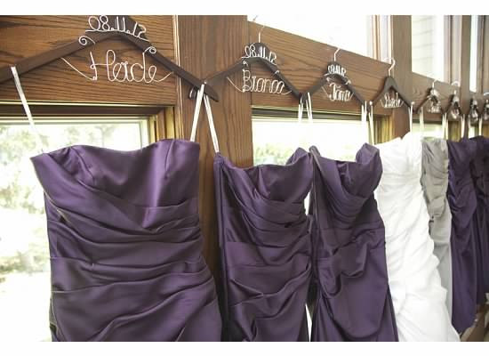 Personalized Bridesmaid Hangers by CroninWeddingDay