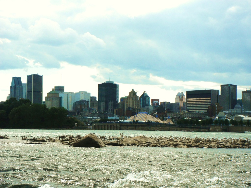 A view of the city from Park Jean Drapeau