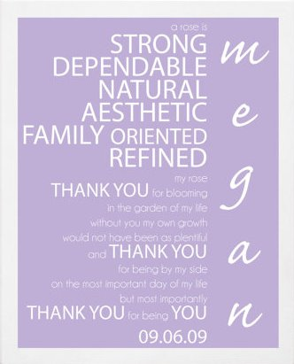 Personalized Bridesmaid Gift, Lavender Poem