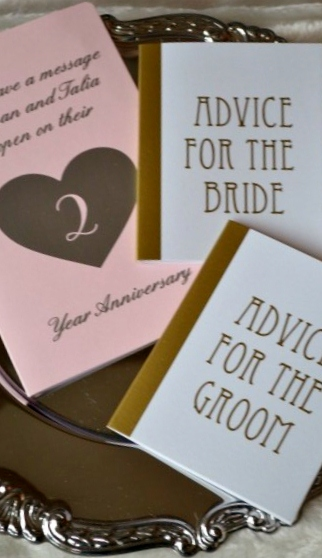Loops and Dots - Advice for the Bride And Groom Notebooks, Guest Book Alternative