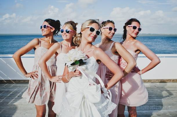 Retro inspired party sunglasses to add funk and flair to any wedding! Eyepster.com