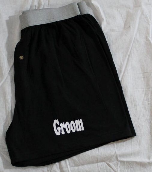 Groom Boxers Customized with your Wedding Date