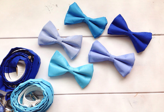 Groomsmen Bow Ties and Suspenders by Isabella Couture.