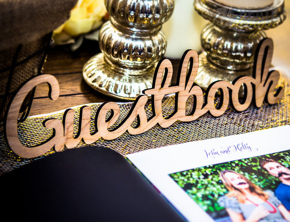 ZCreateDesign Guestbook Sign for Weddings