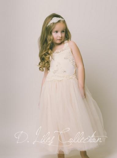 d liles collection_empress avenue_pink pearl pr_Evangeline Flower Girl Dress in Blush