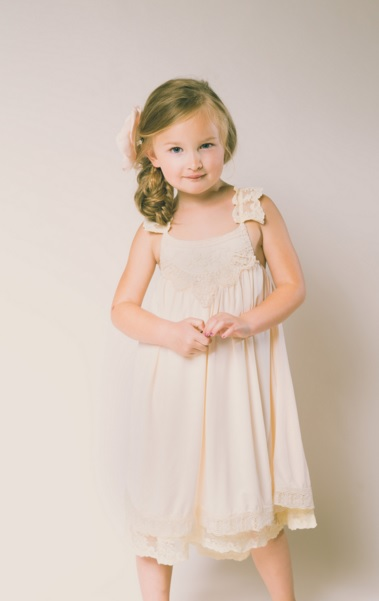 d liles collection_empress avenue_pink pearl pr_Grace Flower Girl Dress in Blush