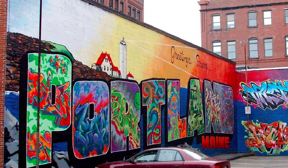 Shira's photo of the Portland Mural