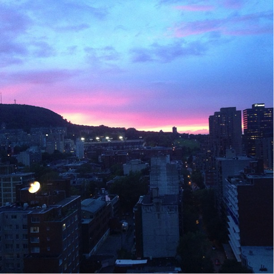 A beautiful sunset view from Rebecca's apartment!