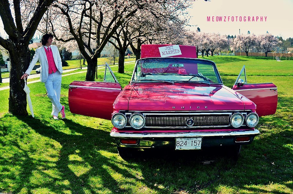 Pink Betsy is ready to take you to the chapel in Vancouver, B.C.