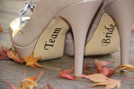 Team Bride Shoe Stickers - Bridesmaid Gift Idea