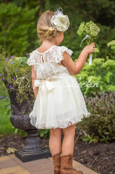 d liles collection_empress avenue_pink pearl pr_Charlotte Flower Girl Dress in Ivory